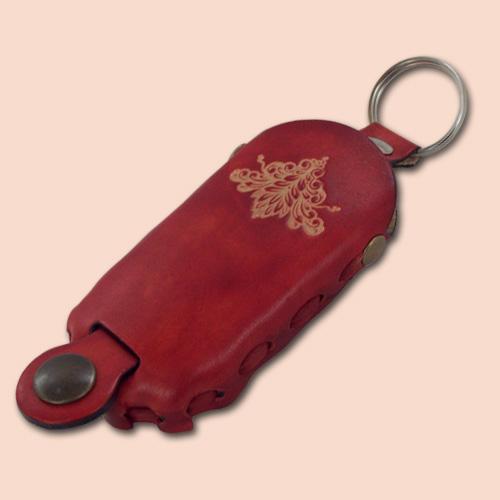 Kožni etui za ključeve Sima crvena 007