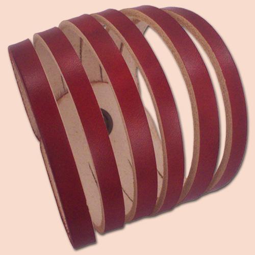Kožna narukvica rezana crvena