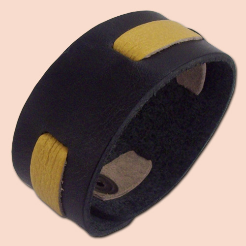 Narukvica dvobojna crno-žuta