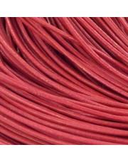 Kožna traka okruglog prečnika crvena 1,5 mm - 4 m/pak