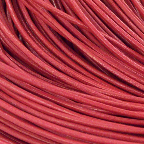 Kožna traka okruglog prečnika crvena 1,5 mm - 5 m/pak