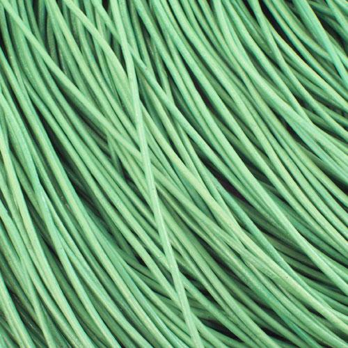 Kožna traka okruglog prečnika zelena 2mm - 5 m/pak