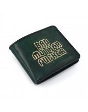 Muški zeleni kožni novčanik Bad Mother Fucker - ručni rad