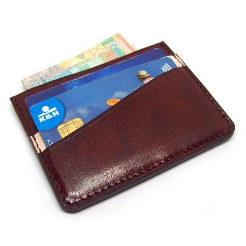 Minimalistički braon kožni novčanik za kartice