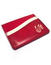 Minimalistički crveni kožni novčanik za kartice