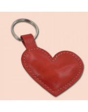Kožno Srce Crveno privesak za ključeve