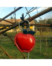 Kožni privesak crvena jabuka