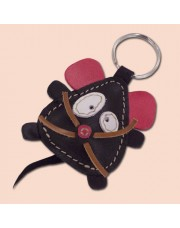 Kožni privesak miš crni