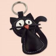 Crna mačka privesak za ključeve