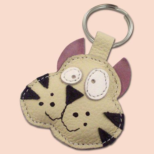 Mačak kožni privesak za ključeve