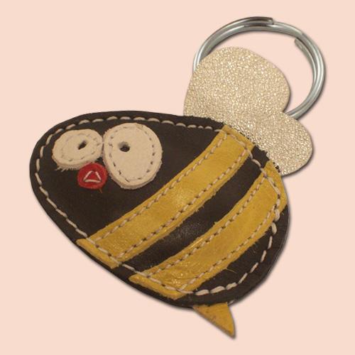 Pčela kožni privesak za ključeve