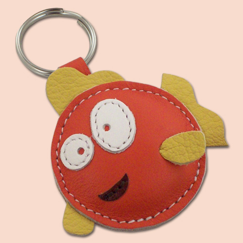 Riba kožni privesak za ključeve