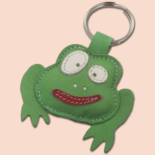 Kožni privesak zelena žaba
