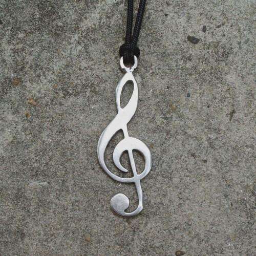 Violinski ključ - livena ogrlica