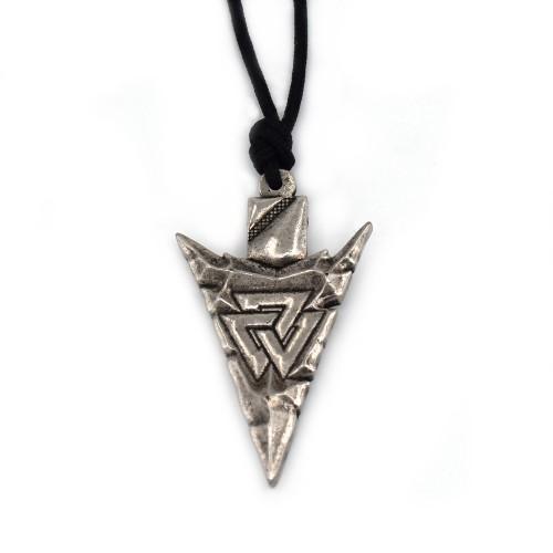 Koplje sa vikinškim simbolom Valknut - Livena ogrlica
