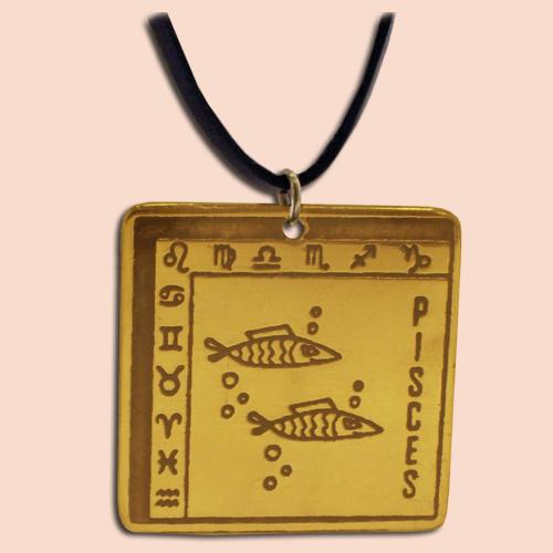 Medaljon Ribe Kvadratni