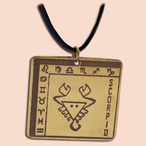 Medaljon Škorpija Kvadratni