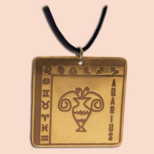 Medaljon Vodolija Kvadratni