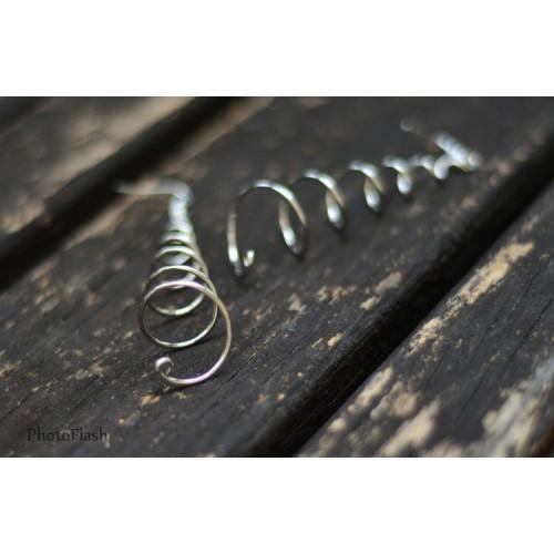 Spiralne minđuše od žice SE262