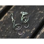 Minđuše od žice u obliku violinskog ključa SE302