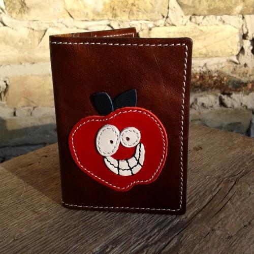 Novčanik za kreditne kartice sa 4 džepa sa crvenom jabukom