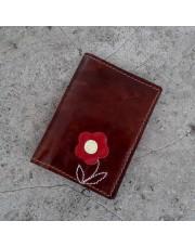 Novčanik za kreditne kartice sa 4 džepa sa crvenim cvetićem