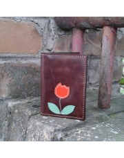 Novčanik za kreditne kartice sa 4 džepa sa crvenom lalom