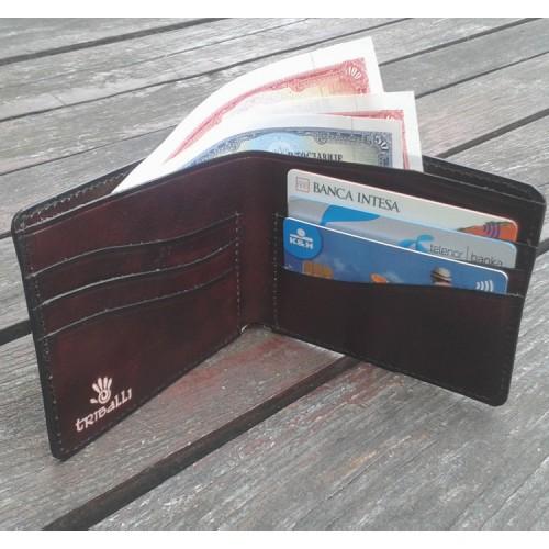 Muški kožni novčanik izrađen ručno tehnologijom starog zanata - No 01