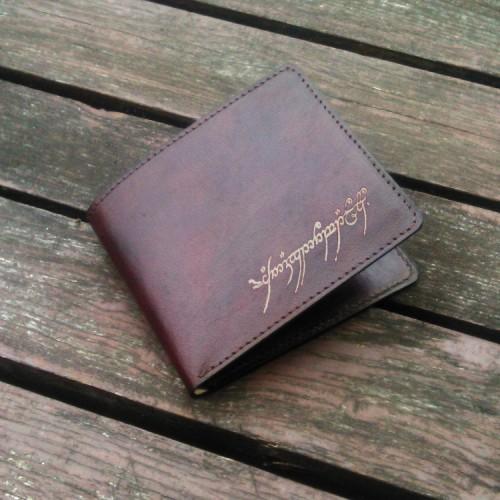 Muški kožni novčanik sa natpisom iz Gospodara Prstenova