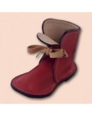 Kožna cipelica - stalak za olovke (crvena)
