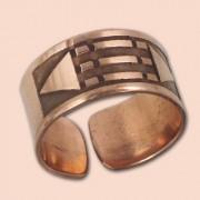 Luxor prsten 10mm - bakar