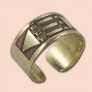 Luxor prsten 10mm - mesing