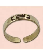 Luxor prsten 4mm - mesing