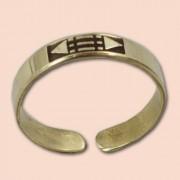 Luxor prsten 6mm - mesing