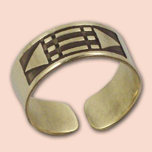 Luxor prsten 8mm - mesing