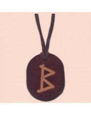 Kožna ogrlica runa amulet Berkanan