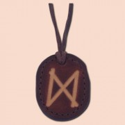 Kožna ogrlica runa amulet Dagaz