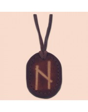Kožna ogrlica runa amulet Hagalaz