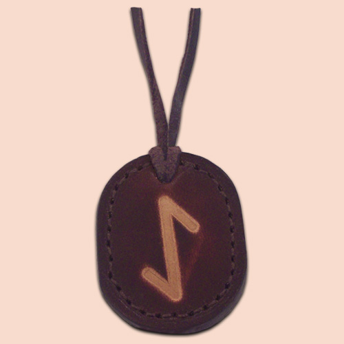 Kožna ogrlica runa amulet Ihwaz