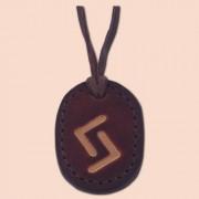 Kožna ogrlica runa amulet Jera
