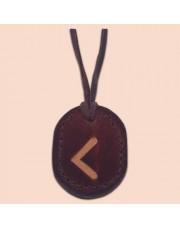 Kožna ogrlica runa amulet Kauno