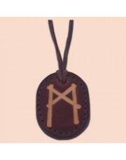 Kožna ogrlica runa amulet Mannaz