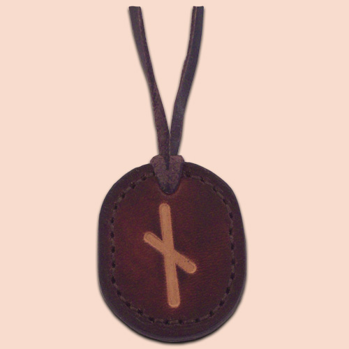 Kožna ogrlica runa amulet Naudiz