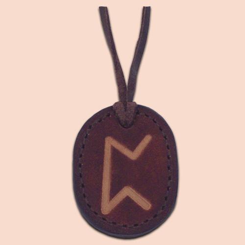 Kožna ogrlica runa amulet Perth