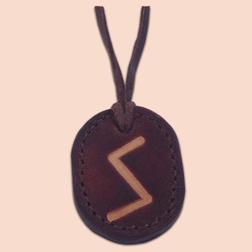 Kožna ogrlica runa amulet Sowilo