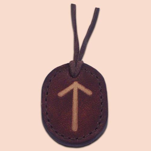 Kožna ogrlica runa amulet Tiwaz