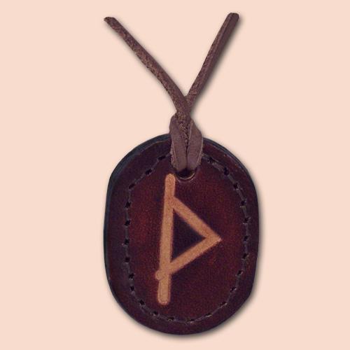 Kožna ogrlica runa amulet Thurisaz - Thorn