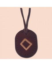 Kožna ogrlica runa amulet Ingwaz - Inguz