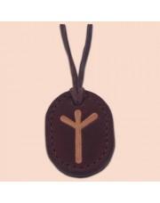 Kožna ogrlica runa amulet Algiz