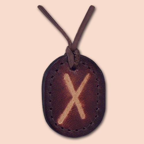 Kožna ogrlica runa amulet Gebo